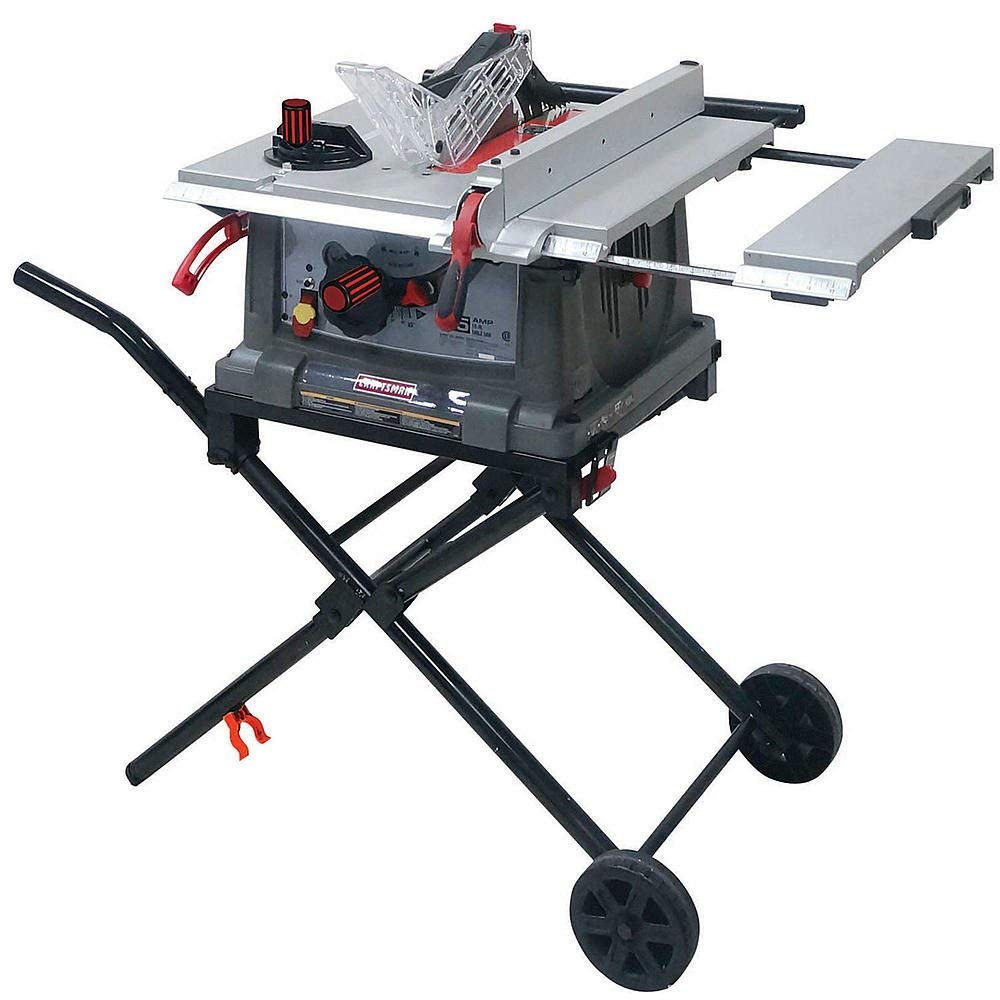 Craftsman Portable Table Saw with Mobile Wheeled Stand