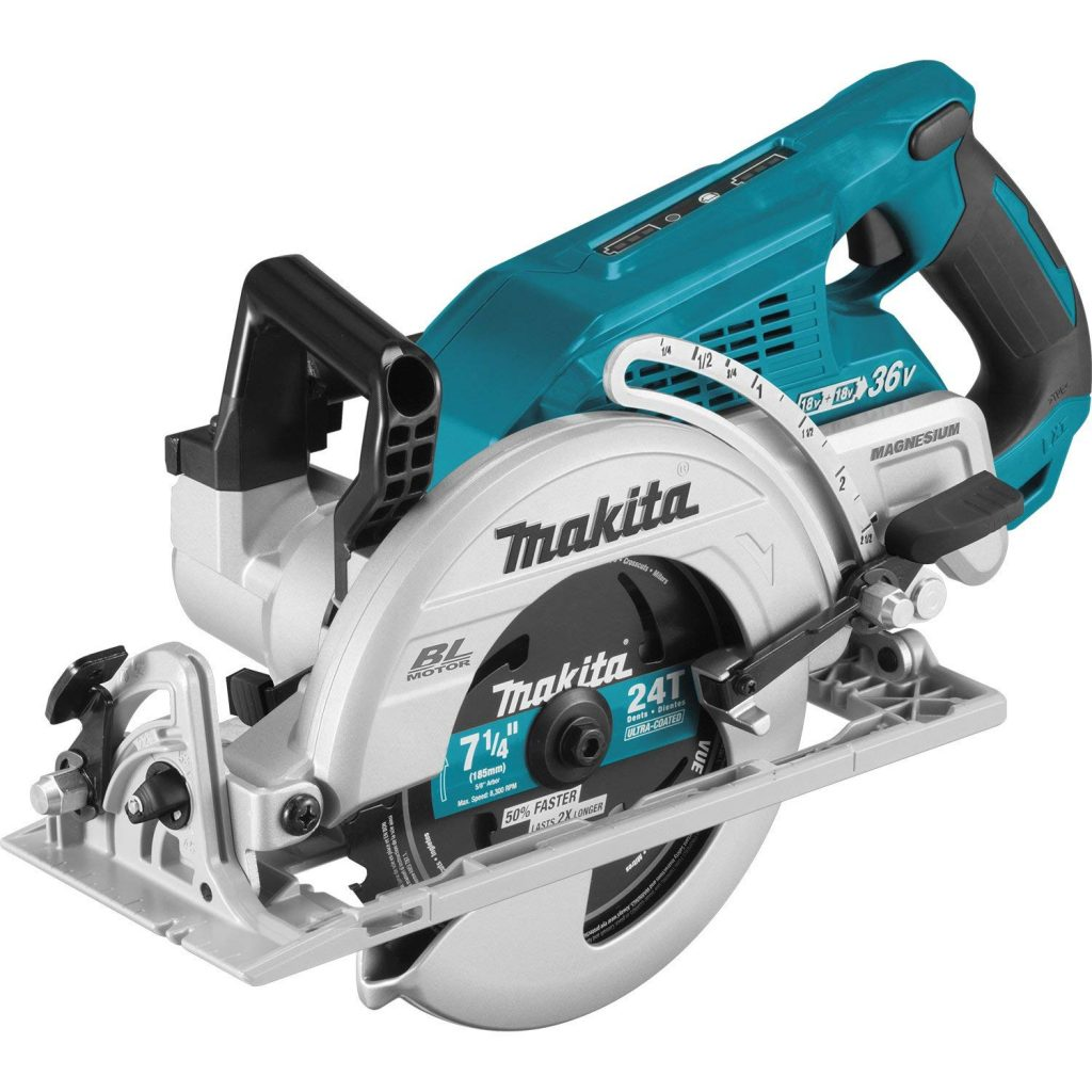 "Makita XSR01Z 18V X2 LXT Lithium-Ion (36V) Brushless Cordless Rear Handle 7-1/4"" Circular Saw"