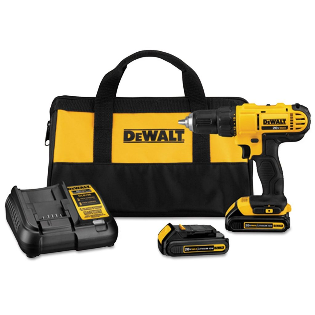 Dewalt-DCD771C2-20V-MAX-Cordless-Lithium-Ion-1-2-inch-Compact-Drill-Driver-Kit