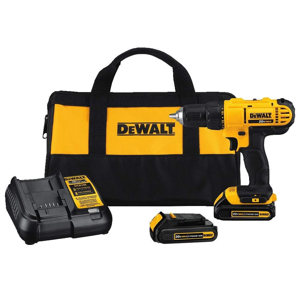 Dewalt-DCD771C2-20V-MAX-Cordless-Lithium-Ion-12-inch-Compact-Drill