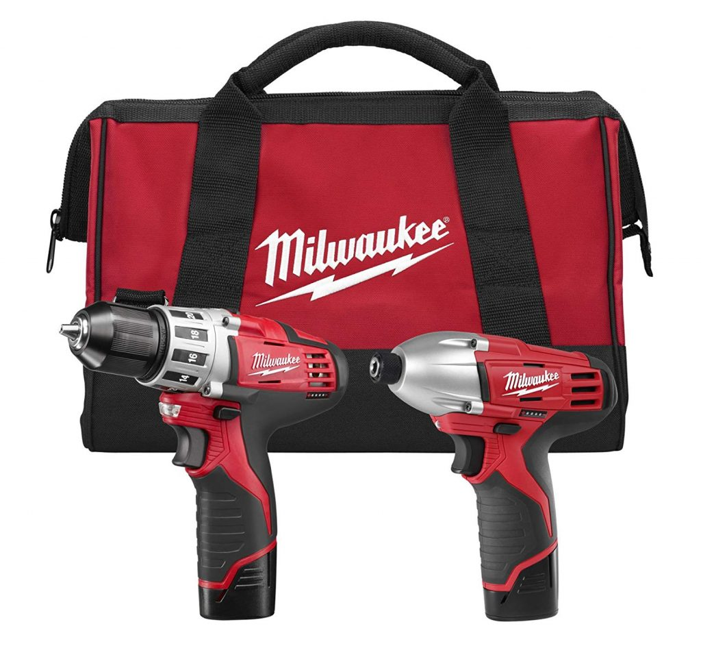 Milwaukee-2494-22-M12-Cordless-Combination-3822-Drill-Driver-and-1422-Hex-Impact-Driver-Dual-Power-Tool-Kit
