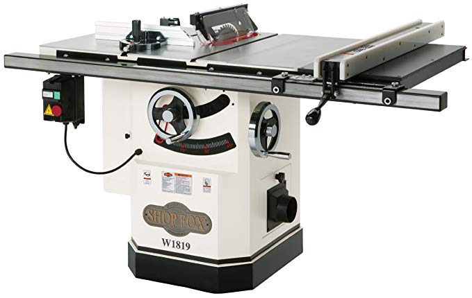 Shop Fox W1819 3 HP 10-Inch Table Saw