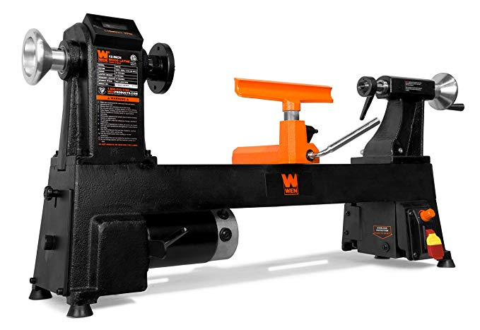 WEN 34018 Cast-Iron Wood Lathe