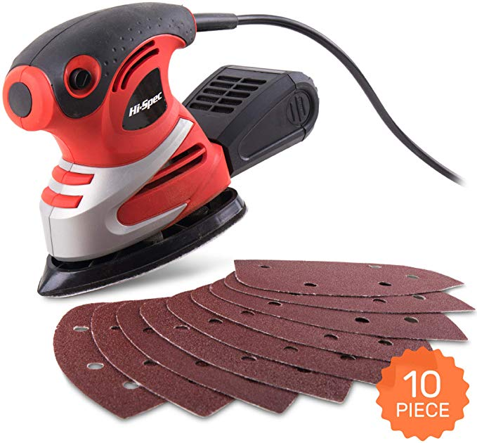 Hi-Spec 200W Palm Detail Orbital Mouse Sander