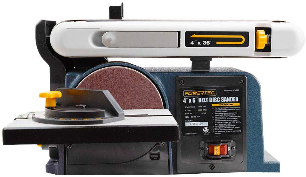 POWERTEC BD4600 Woodworking Belt Disc Sander