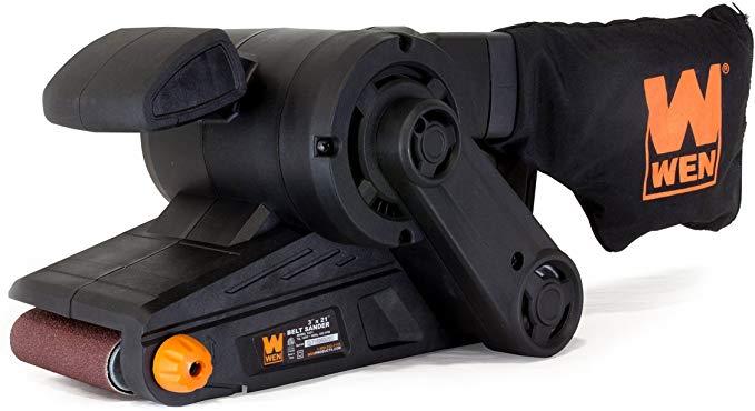 WEN 6321 Corded Belt Sander with Dust Bag