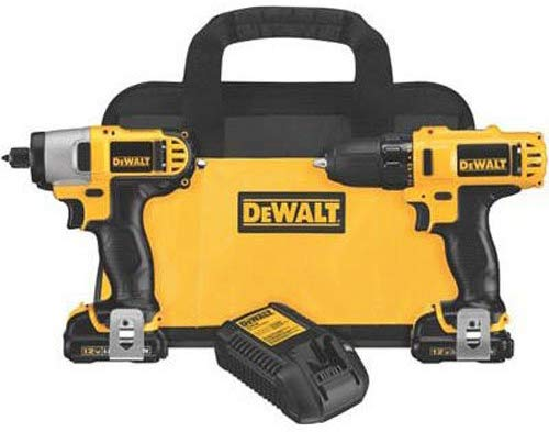 Dewalt DCK211S2 Impact Driver and Drill Combo Kit