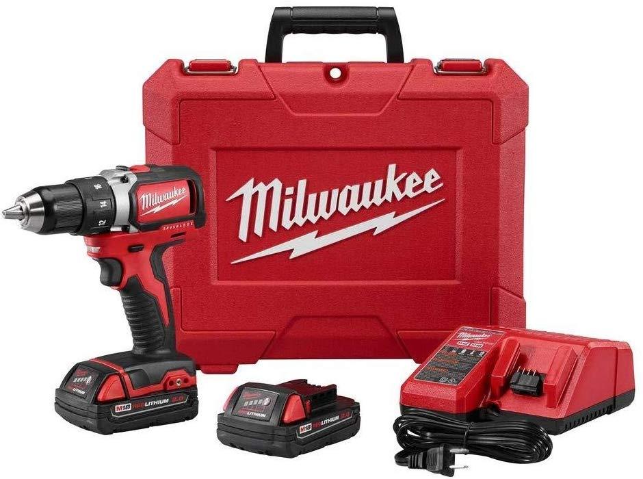 Milwaukee 2701-22CT M18 Compact Brushless Drill & Driver Kit