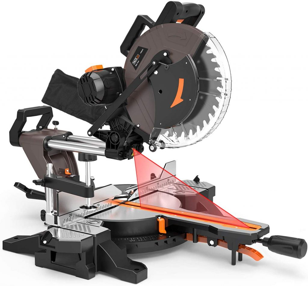 TACKLIFE PMS03A Sliding Compound Miter Saw