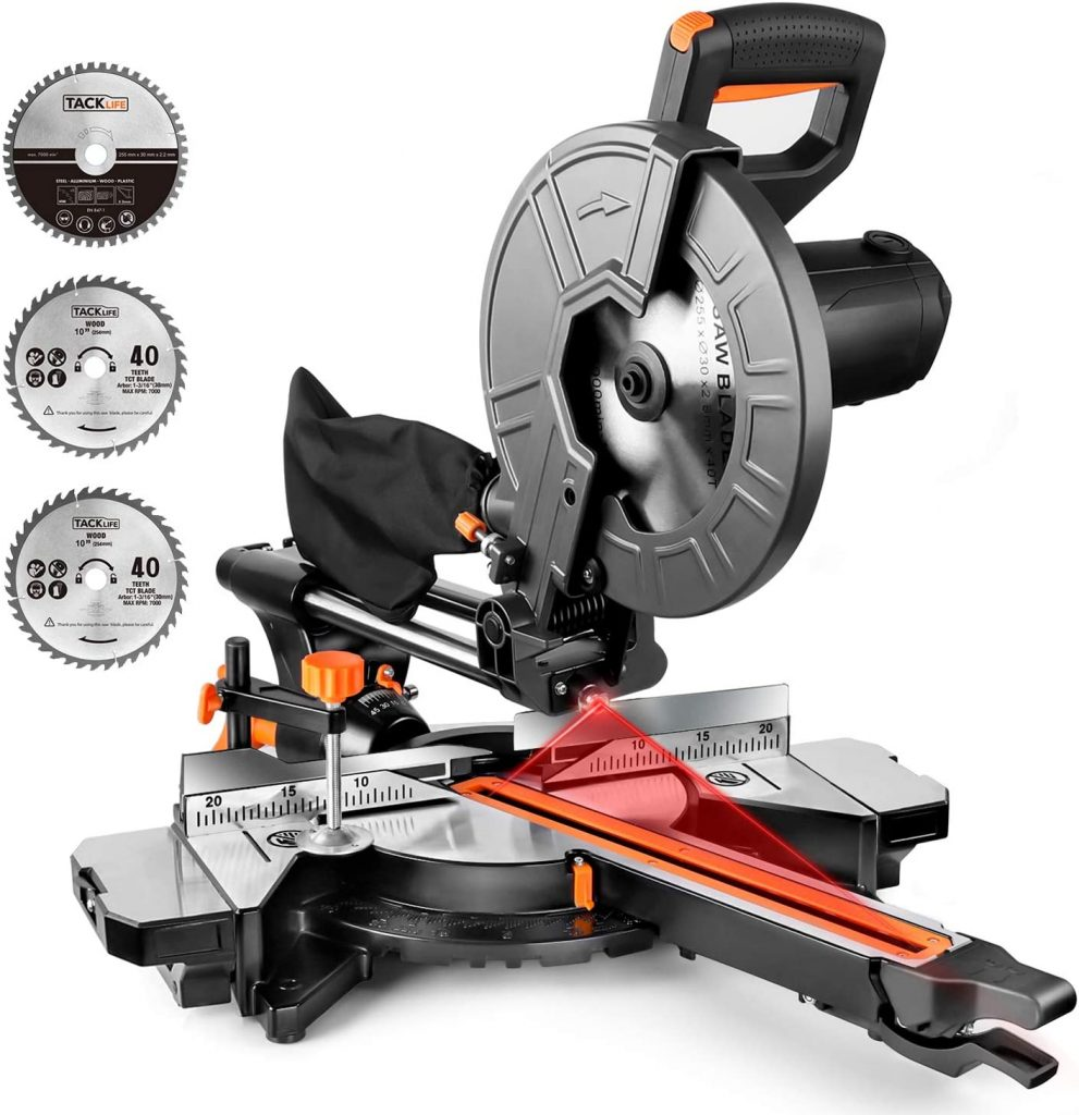 ​TACKLIFE EMS01A Sliding Compound Miter Saw