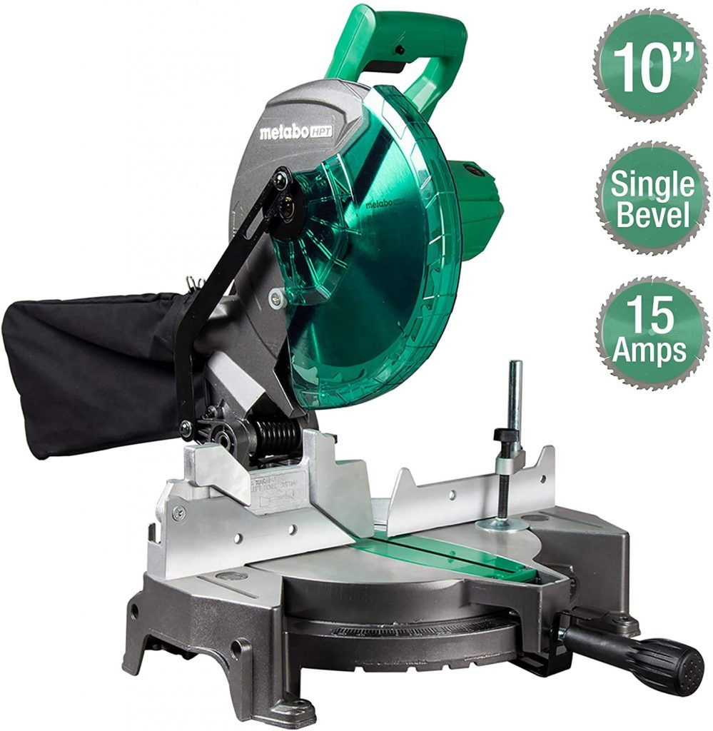 """Metabo HPT C10FCGS 10"""" Single Bevel Compound Miter Saw"""