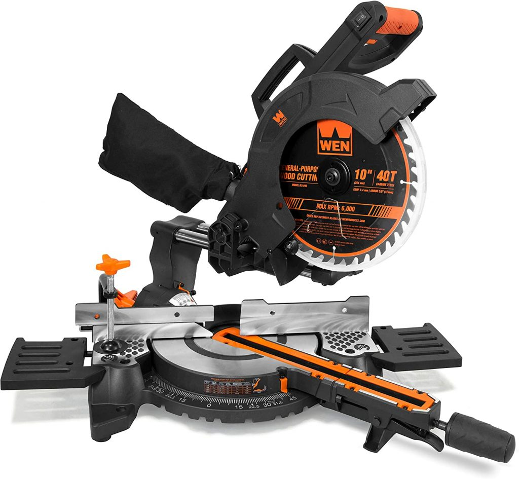 WEN MM1011 Compact Sliding Compound Miter Saw with Laser