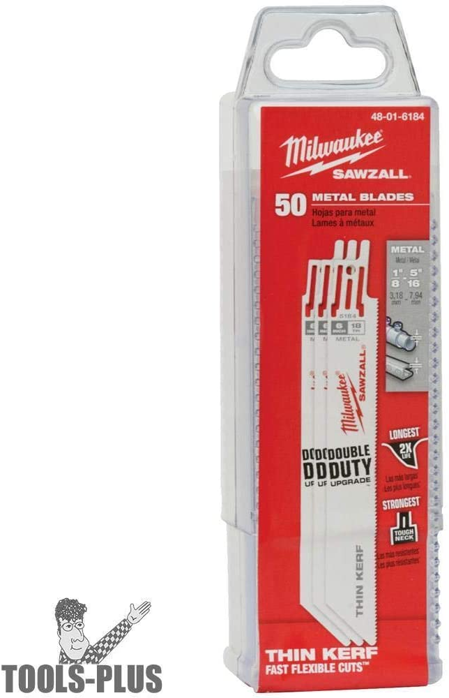 Milwaukee 48-01-6184 50pk 6 inch. 18-TPI Thin Kerf Blades