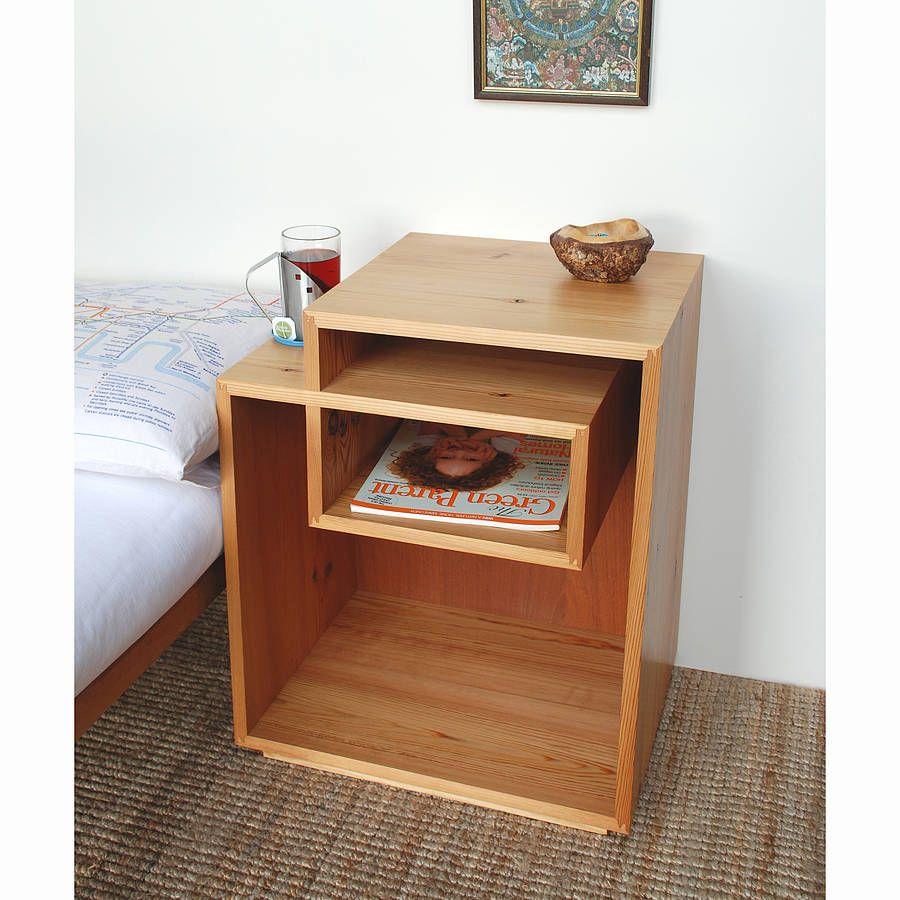 wooden bedside box