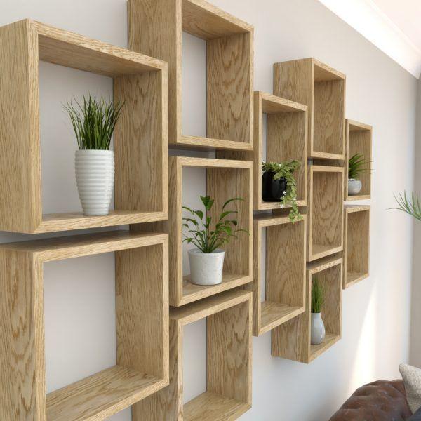 wooden box shelf