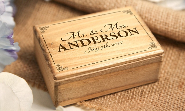wooden personalised box